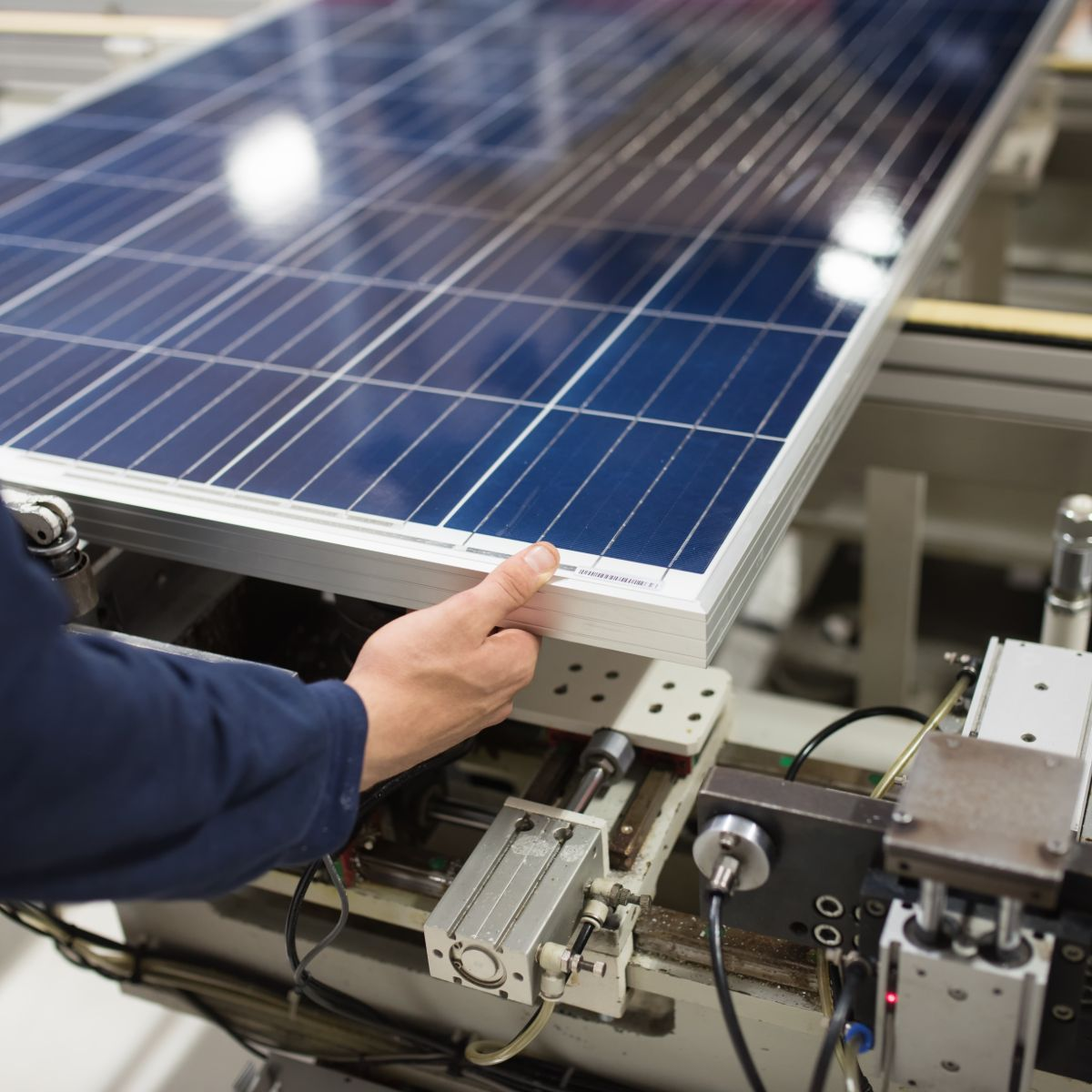 Factory Components of a solar power system